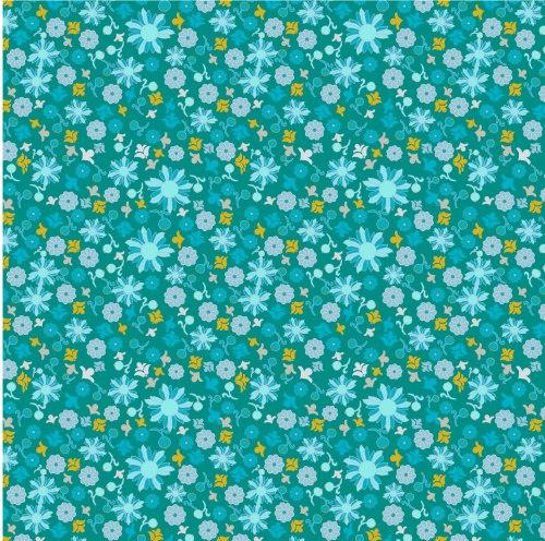 Scattered Flower on Dark Blue by Wise Craft Handmade