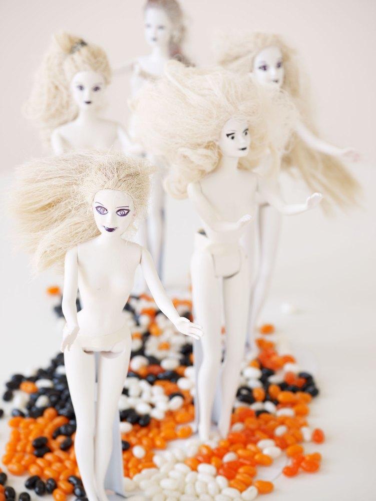 Halloween Craft Zombie Barbies