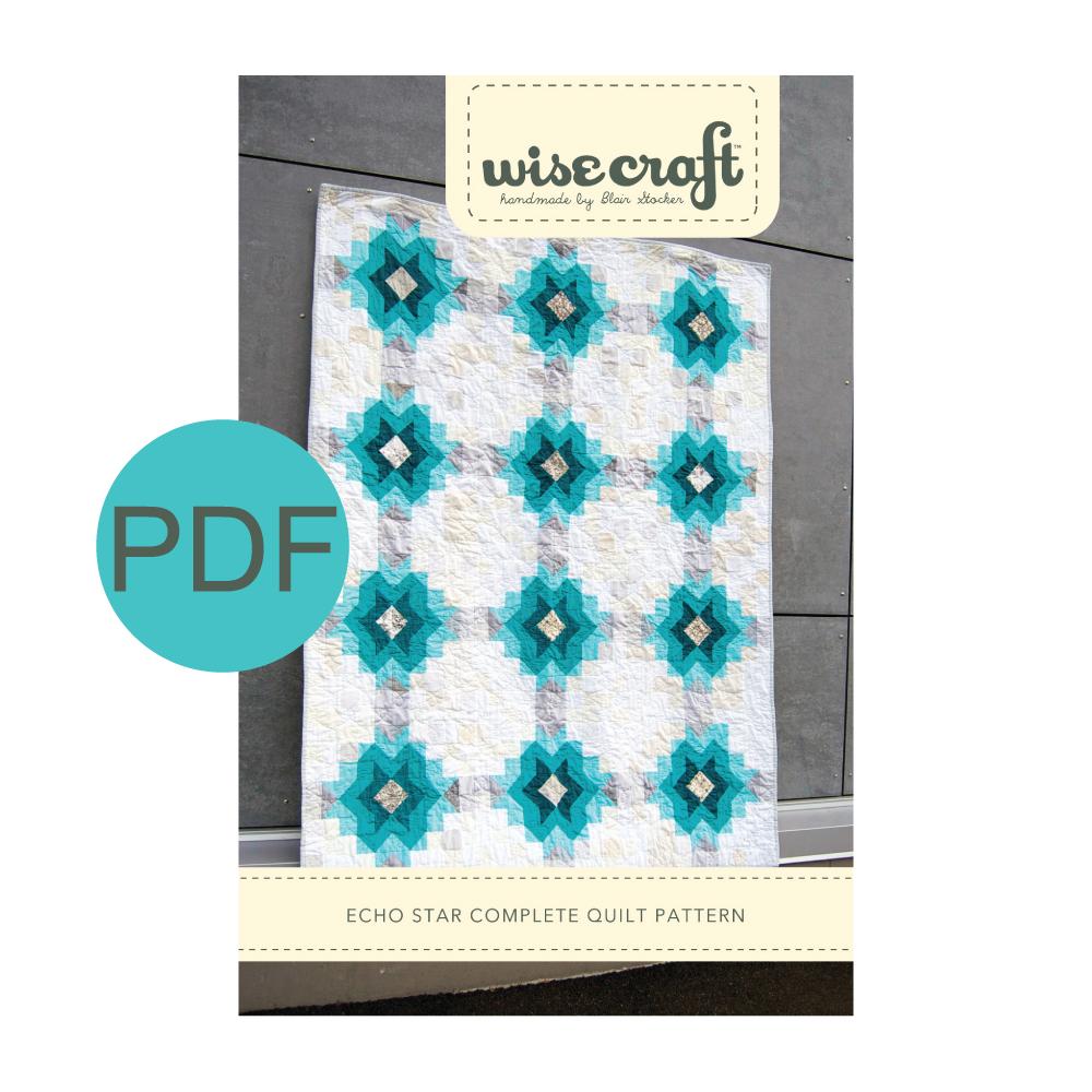 Wise Craft Handmade Echo Star Quilt Pattern