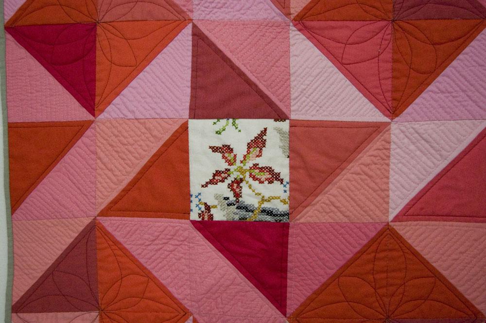 Pheasant quilt detail