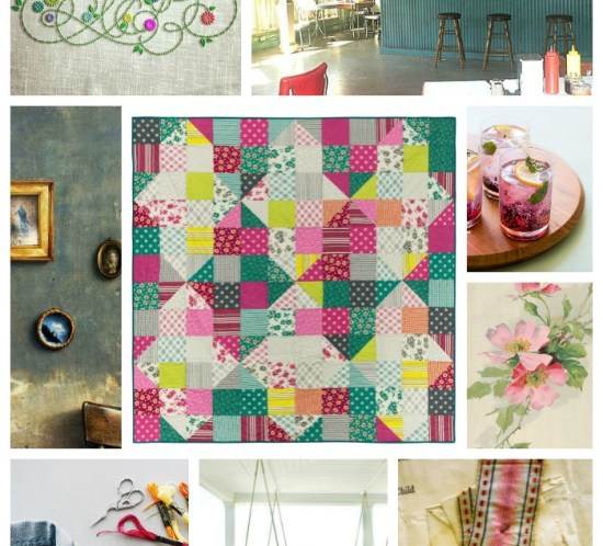 Interwoven collage #myquiltcouldlivehere