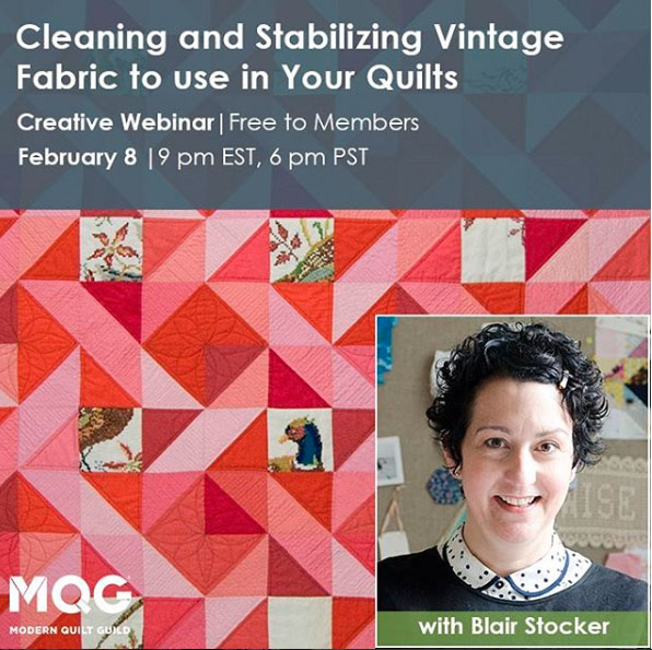 Modern Quilt Guild Webinar this Thursday