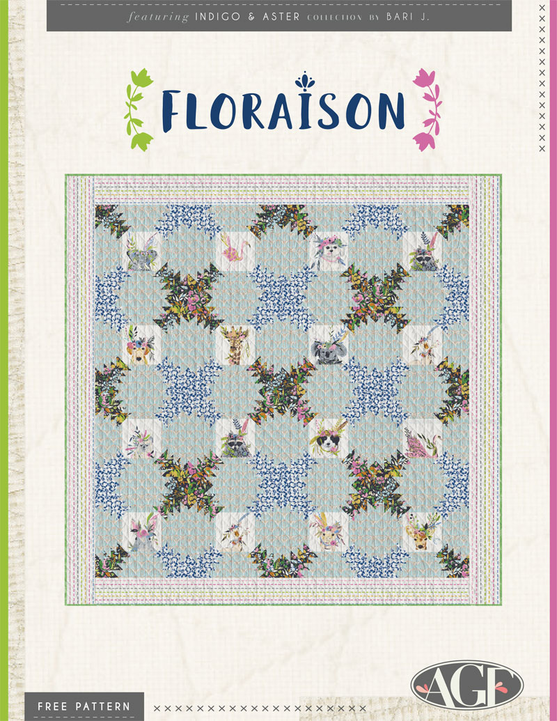 Floraison Pattern Cover