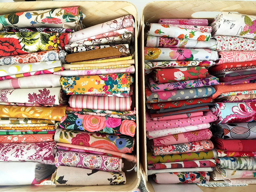 organized fabric stash