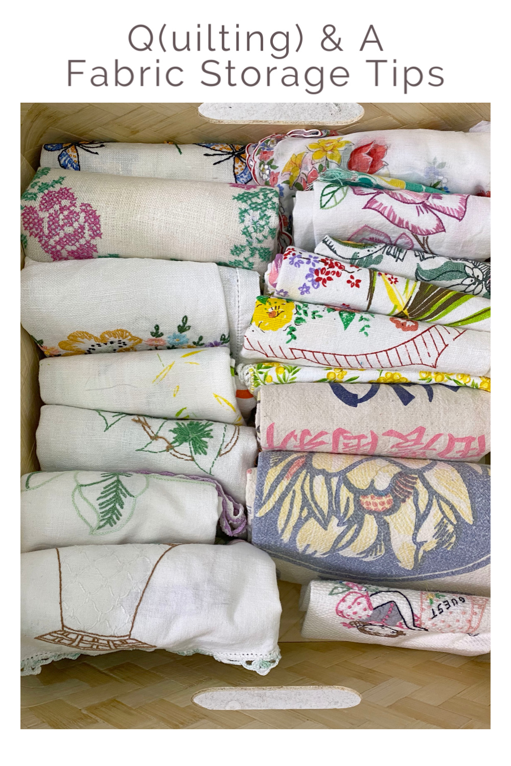 KonMari Fabric Storage Tips