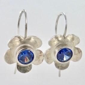 flower_earrings_silver_tanzanite