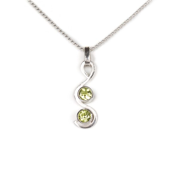 Sterling silver and peridot pendant for sale