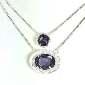 Family heirloom colour change sapphires in silver