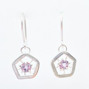 Hope drop earrings - light pink