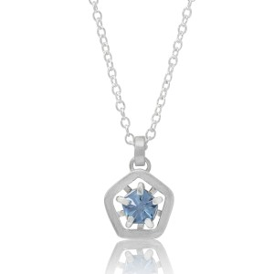 Hope simple pendant - light blue cropped