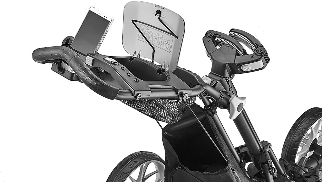 CaddyTek EZ-Fold 3-Wheel Golf push cart top storage