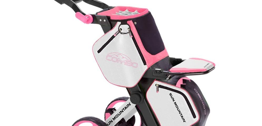 golf bag push cart combo