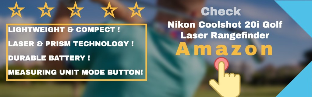 Nikon cool shot 20i golf laser rangefinder features