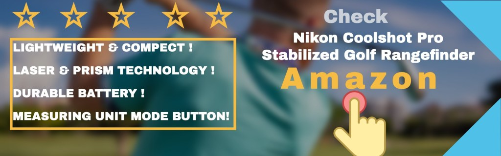 Nikon coolshot pro stabilized golf rangefinder features.