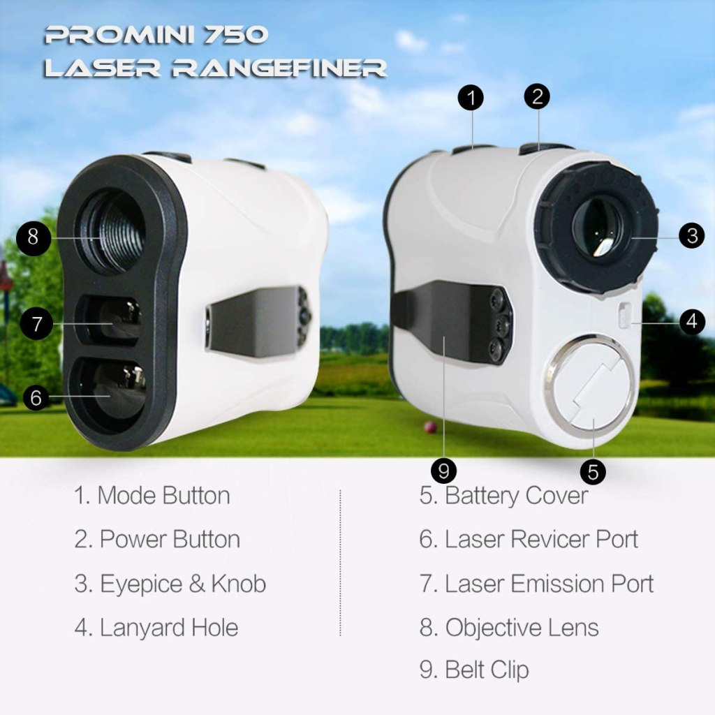 The ProMini 750 Laser Golf Rangefinder is very quick at gaging the distance