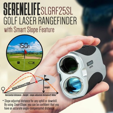 The SereneLife Golf Laser Rangefinder is actual informal to handle and function