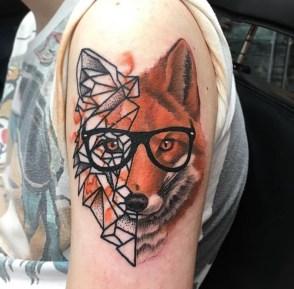 Painty Geometric Fox