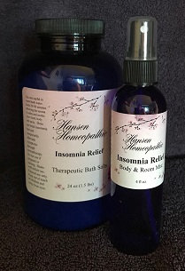 Bath Salt n Spray Insomnia Relief set web20