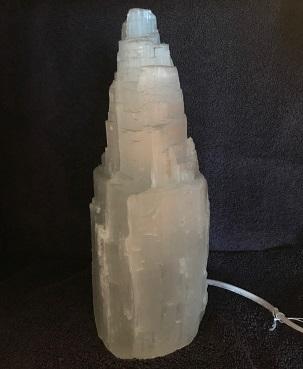 Selenite Skyscraper Lamp 10in web20