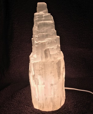 Selenite Skyscraper Lamp 10in White web20