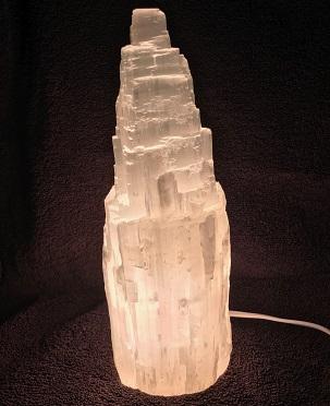 Selenite Skyscraper Lamp White Turned on web20
