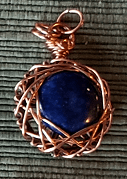 Lapis Lazuli Fractal Wrapped Pendant