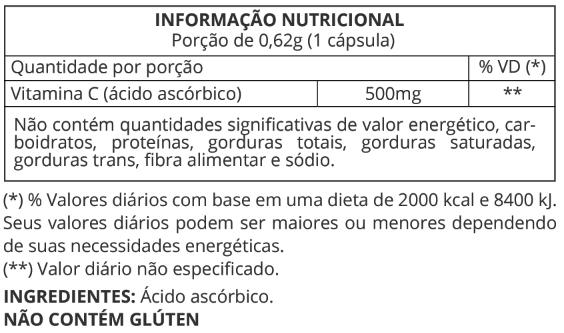 Informação Nutricional Vitamina C