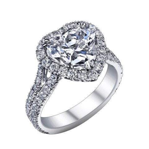 heart-shape-diamond-platinum-ring