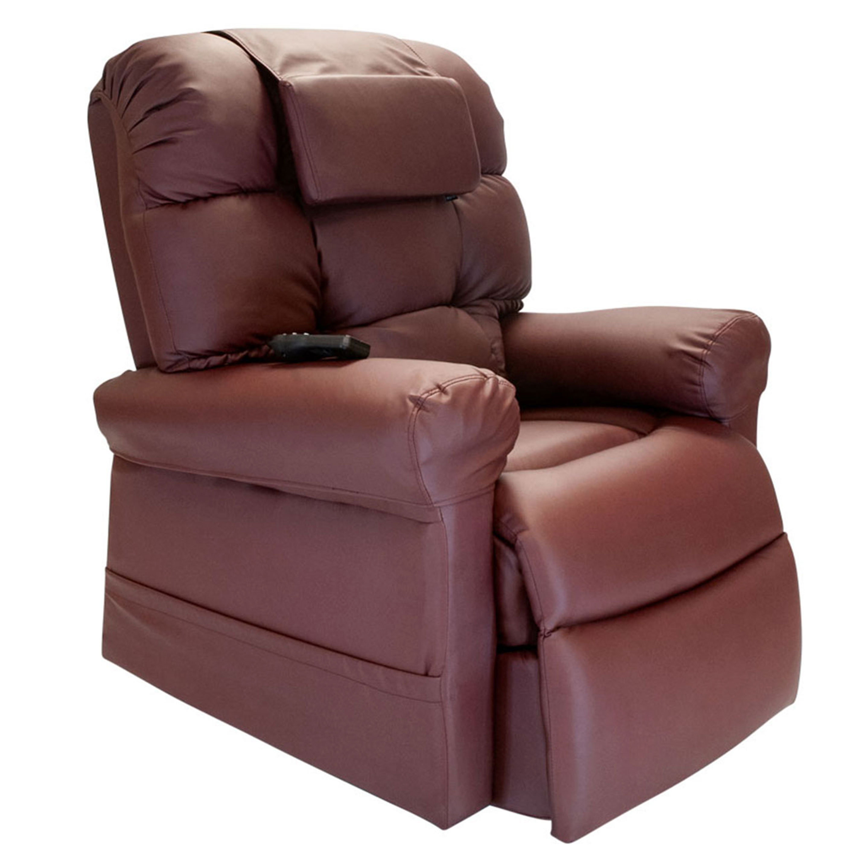 WiseLift 450 Sleeper, Lift Chair, Recliner Burgundy Enduralux Leather