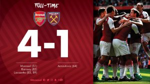 VIDEO: Arsenal vs West Ham 4-1 – Highlights & Goals