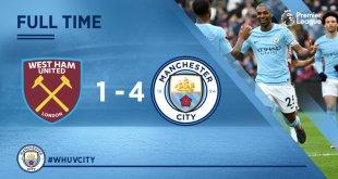 VIDEO: West Ham vs Manchester City 1-4 – Highlights & Goals