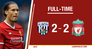 VIDEO: West Brom vs Liverpool 2-2 – Highlights & Goals