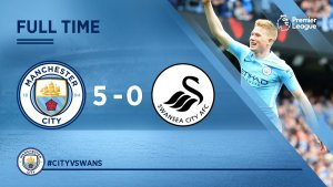 VIDEO: Manchester City vs Swansea 5-0 – Highlights & Goals