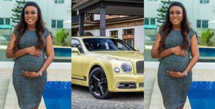 Linda Ikeji Orders 145Million Naira Bentley For Her Unborn Child