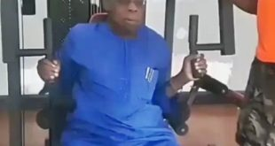 VIDEO: 81-year-old Ex President, Obasanjo Showing-off In A Gym (Watch)