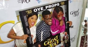 #BBNaija: Tobi & Alex Knelt Down In Public To Beg Toyin Abraham For Coming Late To Her Movie Premiere (Photos +Video)