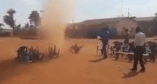 VIDEO: Everybody In Total Shock As Spiritual WHIRLWIND Blew Away Everything During A Crusade