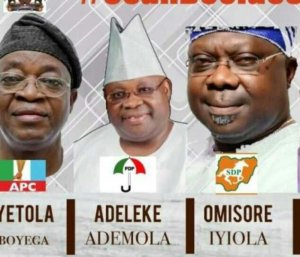 #OSUNDECIDES: Omisore Reportedly Agrees To Work With Adeleke… To Ensure He Wins The Re-Run Election