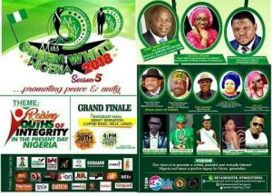 Miss Green And White Nigeria Peace Pageant Set To Hold In Lagos