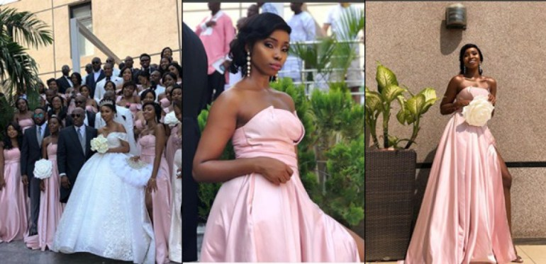 BBNaija Star, BamBam Stuns As A Bridesmaid In Friend's Wedding
