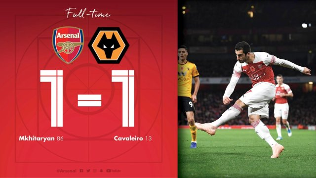 Video: Arsenal 1 vs 1 Wolves (Premier League) – Highlights & Goals