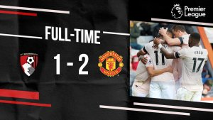 Video: Bournemouth 1 vs 2 Manchester United (Premier League) – Highlights & Goals