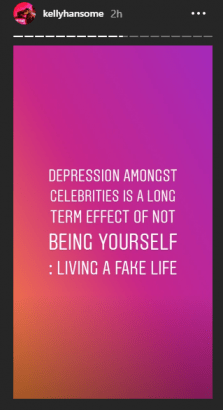 Kelly Hansome Reveals How Fake Life Has Led Celebrities To Depression