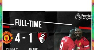 Manchester United vs Bournemouth 4-1 – Highlights