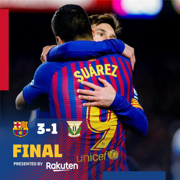 Barcelona vs Leganes 3-1 – Highlights & Goals (Download Video)