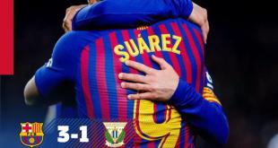Barcelona vs Leganes 3-1 – Highlights & Goals
