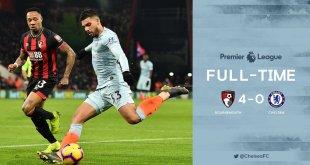 Bournemouth vs Chelsea 4-0 - Highlights & Goals