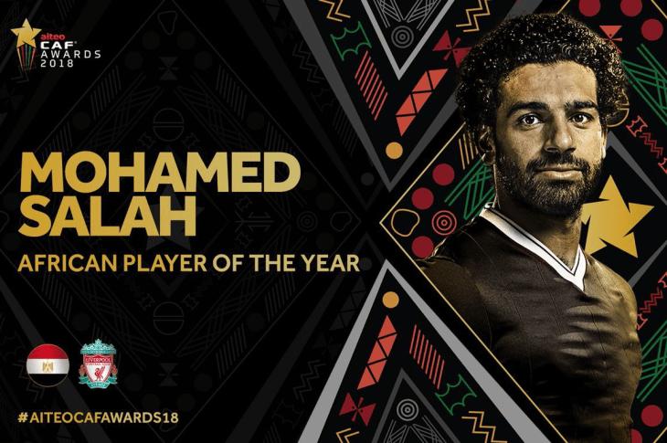 Salah Beats Mane & Aubameyang To Retain Africa's Best Player Of The Year 2018