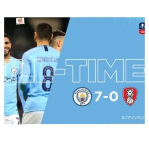 Manchester City vs Rotherham 7-0 – Highlights & Goals
