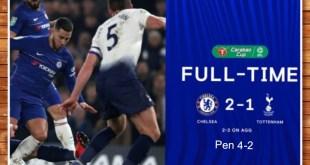 Chelsea vs Tottenham 2*-1 (AGG 2-2) [Pen 4-2] - Highlights & Goals (Video)